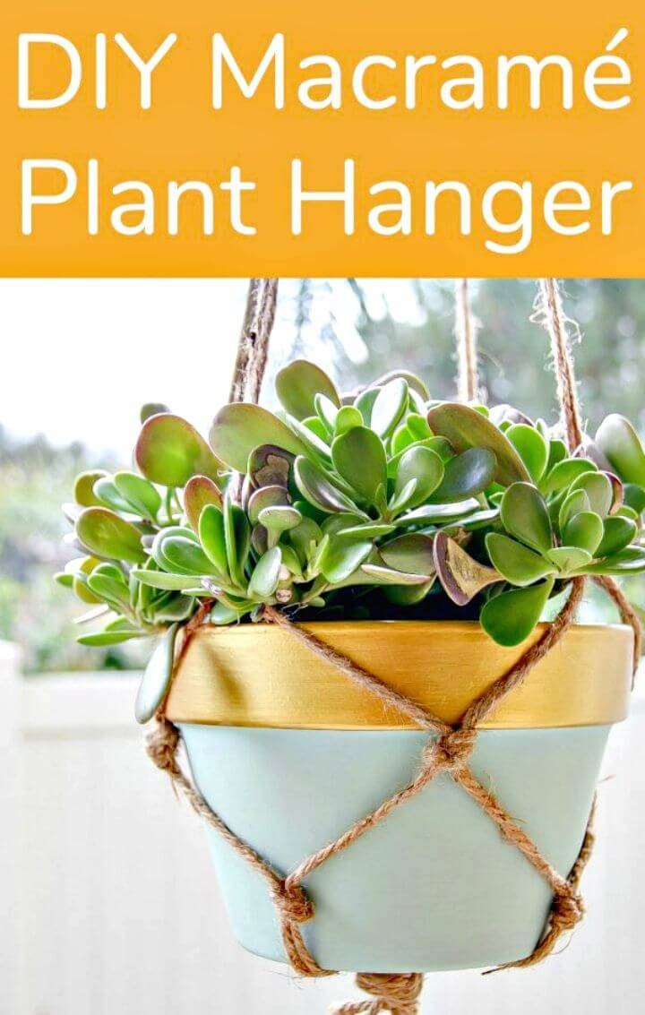 DIY Macrame Plant Hanger for First Timers