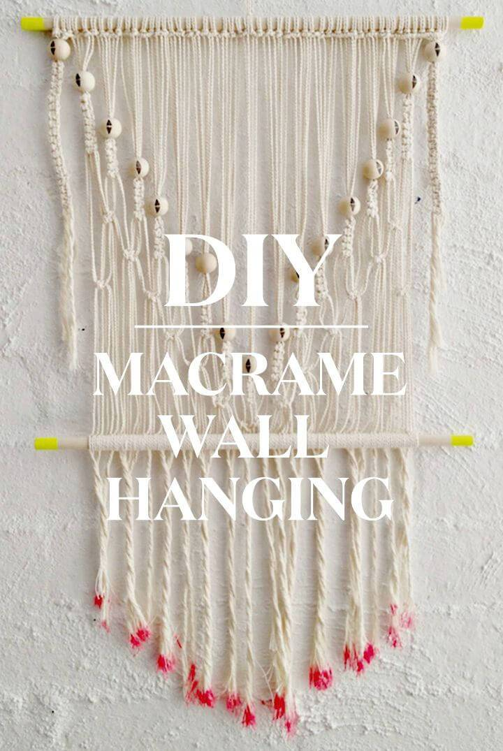 How to Create Macrame Wall Hanging - DIY