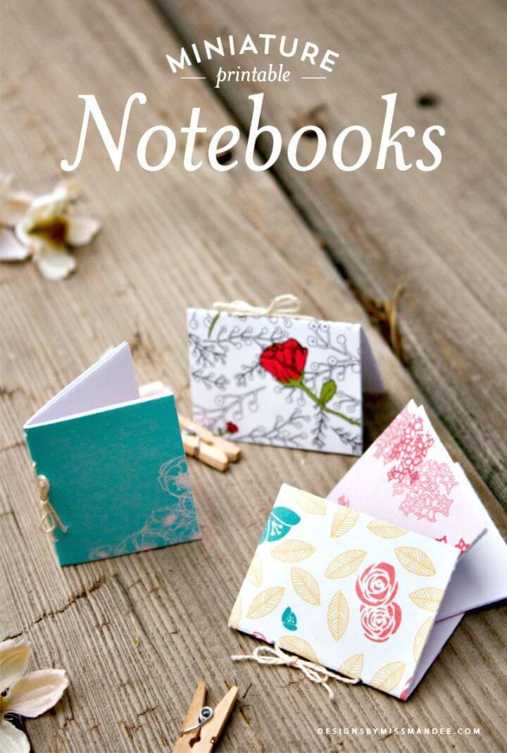 DIY Miniature Printable Notebooks