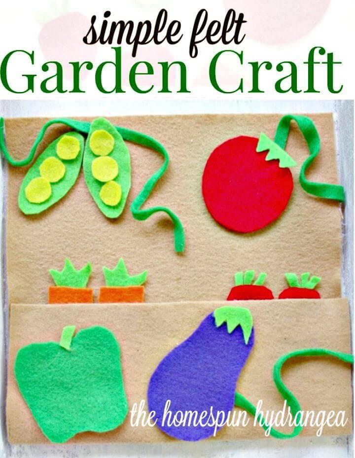 DIY No Sew Frugal Felt Garden Craft for Kids