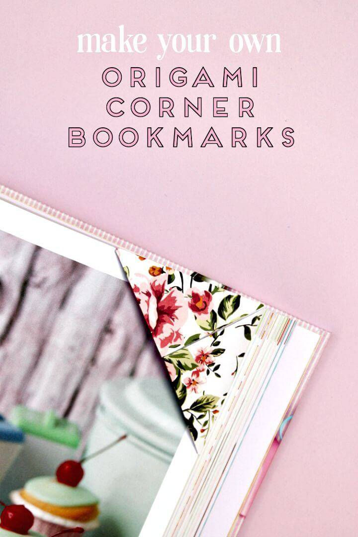 Make Origami Corner Bookmarks
