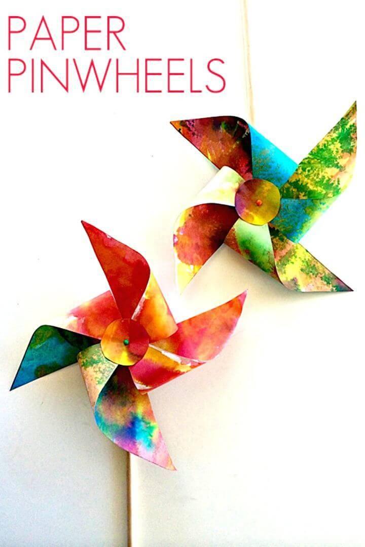 How to DIY Make Paper Pinwheels