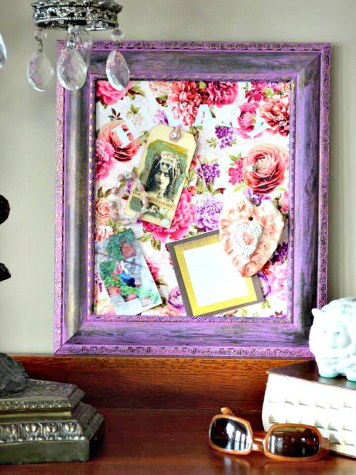 DIY Picture Frame Into A Cork Message Board