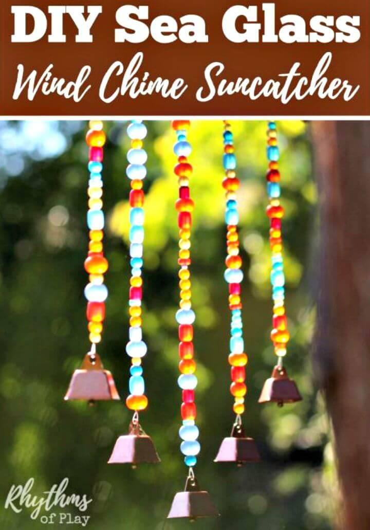 Easy DIY Sea Glass Wind Chime Suncatcher