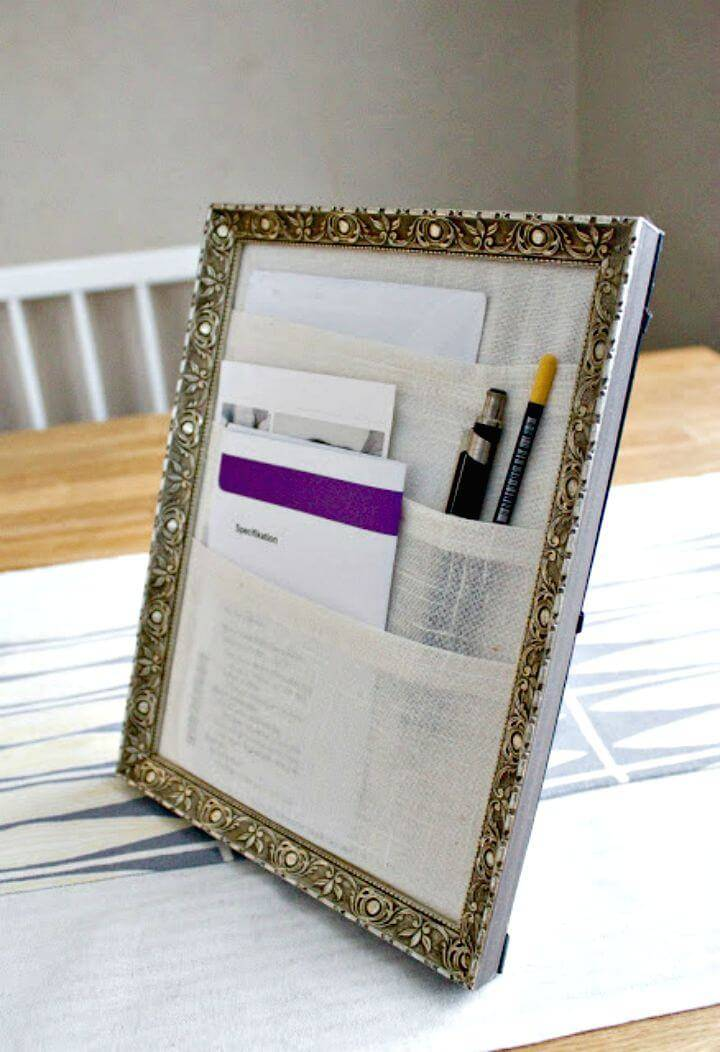 Make Table Organizer from Old Frame - DIY Projects