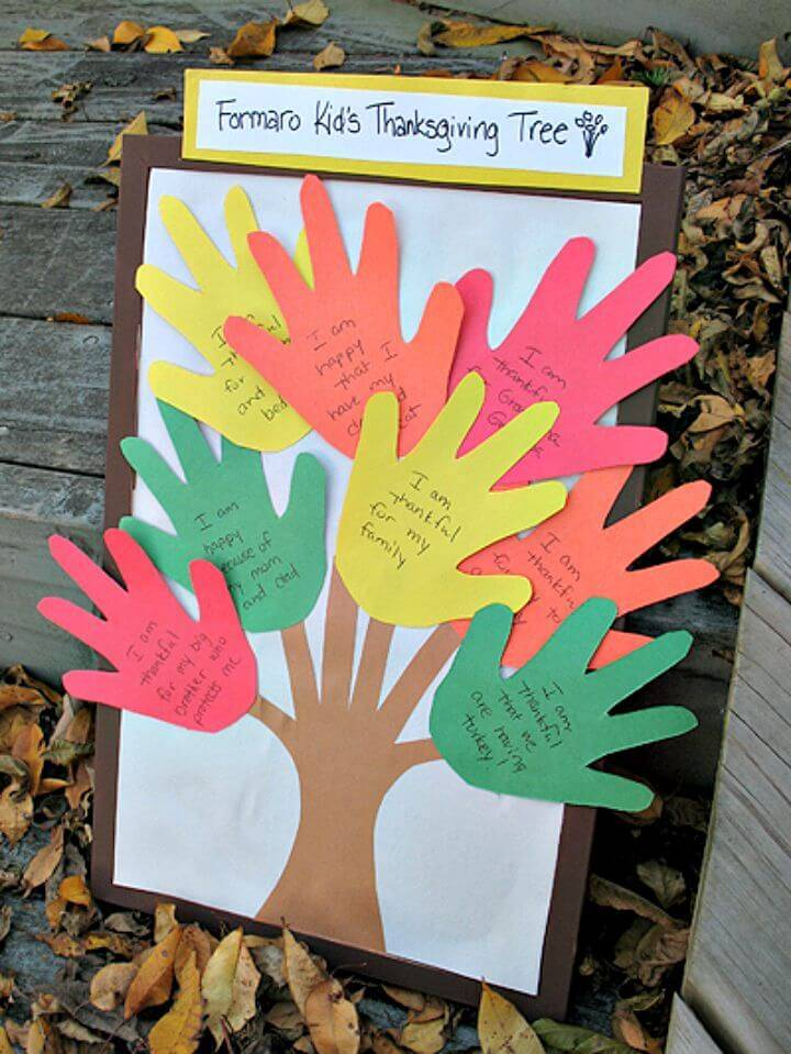 DIY Thanksgiving Handprint Tree Craft
