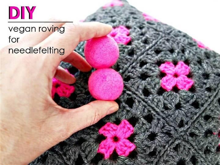 How to Make Vegan Roving for Needle Felting - DIY