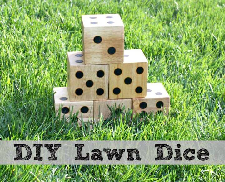 How to Make Make Wooden Yard Dice for Your Kids