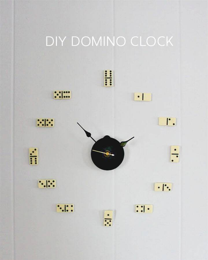 Make Your Own Domino Clock Gift - Last Minute DIY Gift