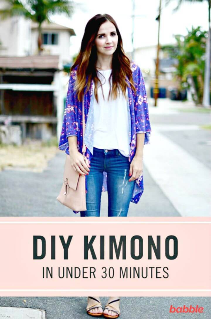 DIY Kimono In Less than 30 Minutes