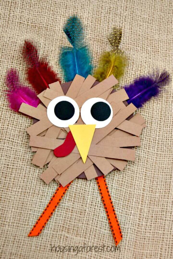 DIY Paper Strip Turkey Craft