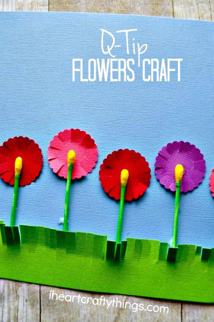 How to DIY Q-tip Flowers Craft