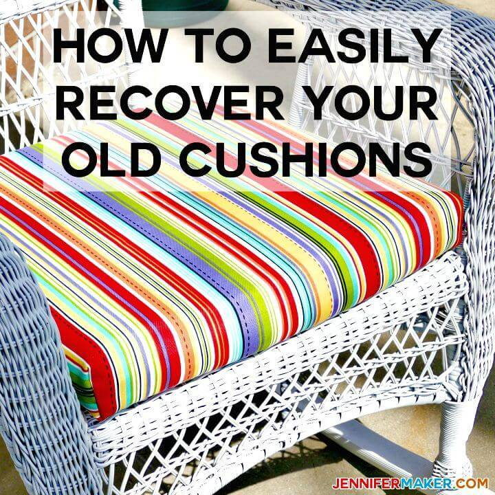 DIY Recover Your Outdoor Cushions