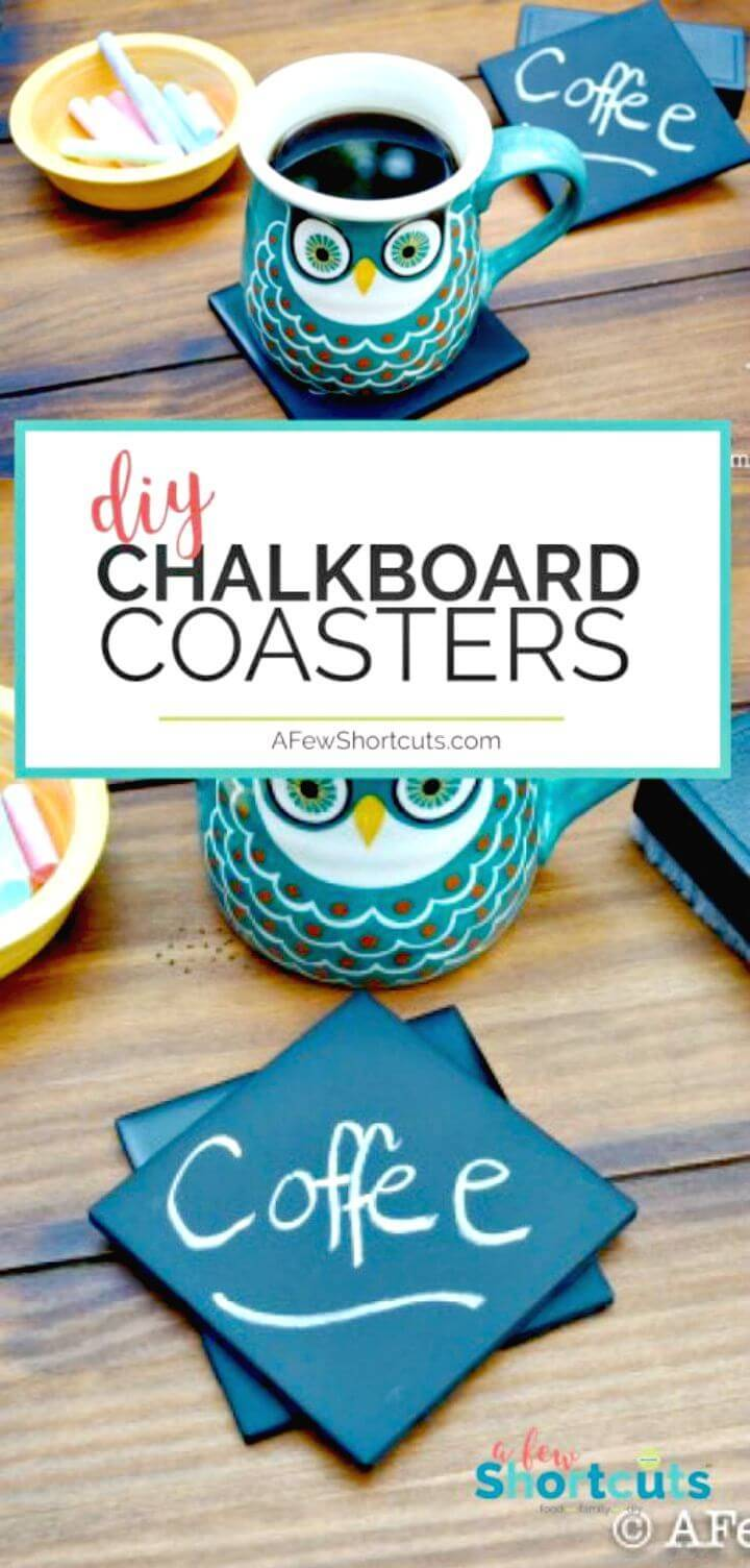 Awesome DIY Chalkboard Coasters