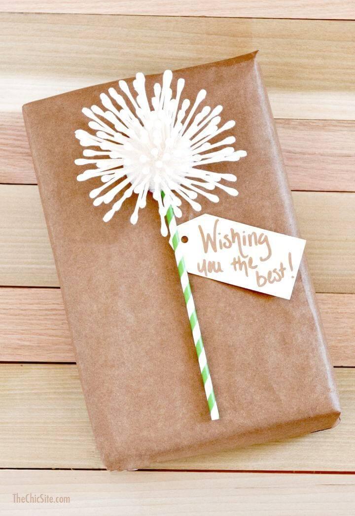 DIY Dandelion Gift Wrap