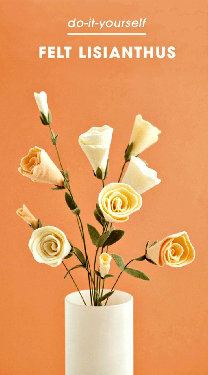 Simple DIY Felt Lisianthus Flower