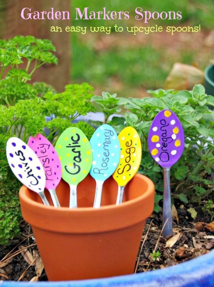 Simple DIY Garden Markers Spoons Tutorial