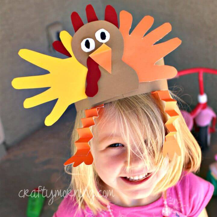DIY Handprint Turkey Hat