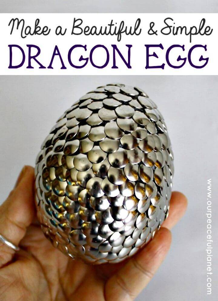 DIY Large Dragon Egg for Table Decor