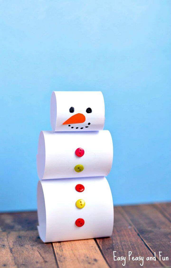 Simple DIY Paper Snowman Craft