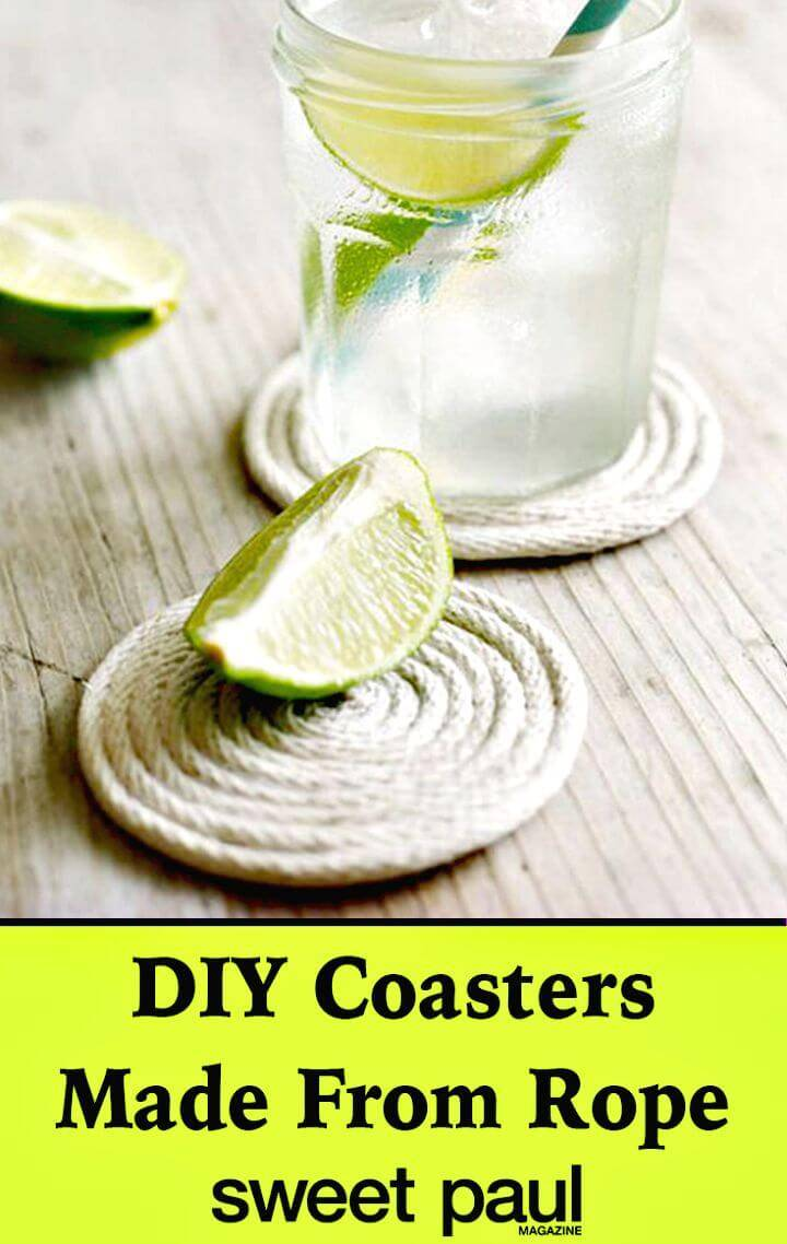 DIY Yet Coaster Made from Cotton Rope