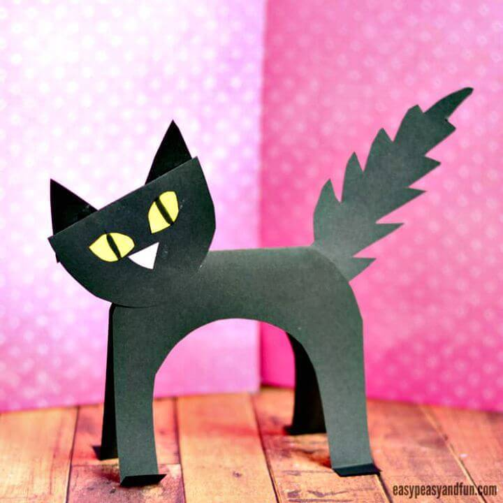 How to Make Black Cat Paper Craft