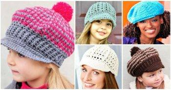 15 Free Crochet Newsboy Hat Patterns, Crochet Hats, Crochet Hat Patterns, Crochet Newsboy Hat Patterns, Free Crochet Patterns