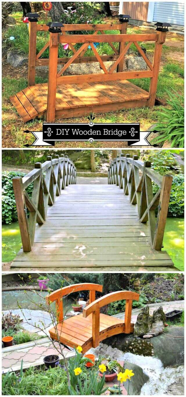 3 DIY Garden Bridge Plans Made with Wood
