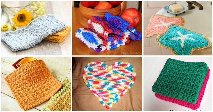 39 Free Crochet Dishcloth Patterns - Easy Crochet Patterns, Free Crochet Patterns, Crochet Patterns, DIY Crafts, Easy Craft Ideas