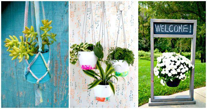 45 Easy DIY Hanging Planter Ideas To Make Your Home Beautiful, DIY Planters, DIY Planter Ideas, DIY Hanging Planters, DIY Home Decor, DIY Projects, Easy DIY Garden Projects