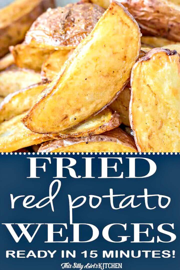 Quick Fried Red Potato Wedges Recipe