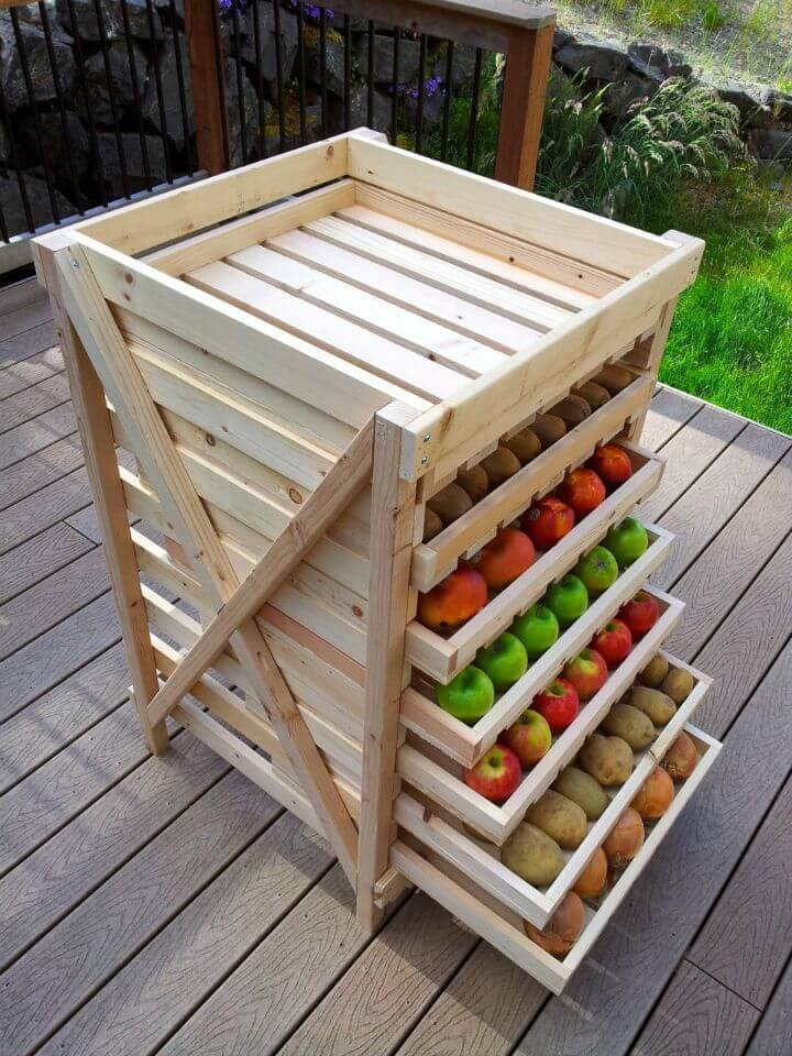DIY Produce Food Storage Drying Rack
