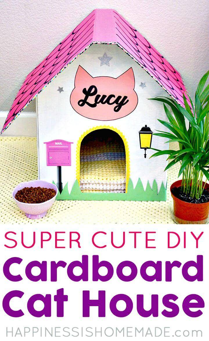 DIY Cardboard Cat House for Free