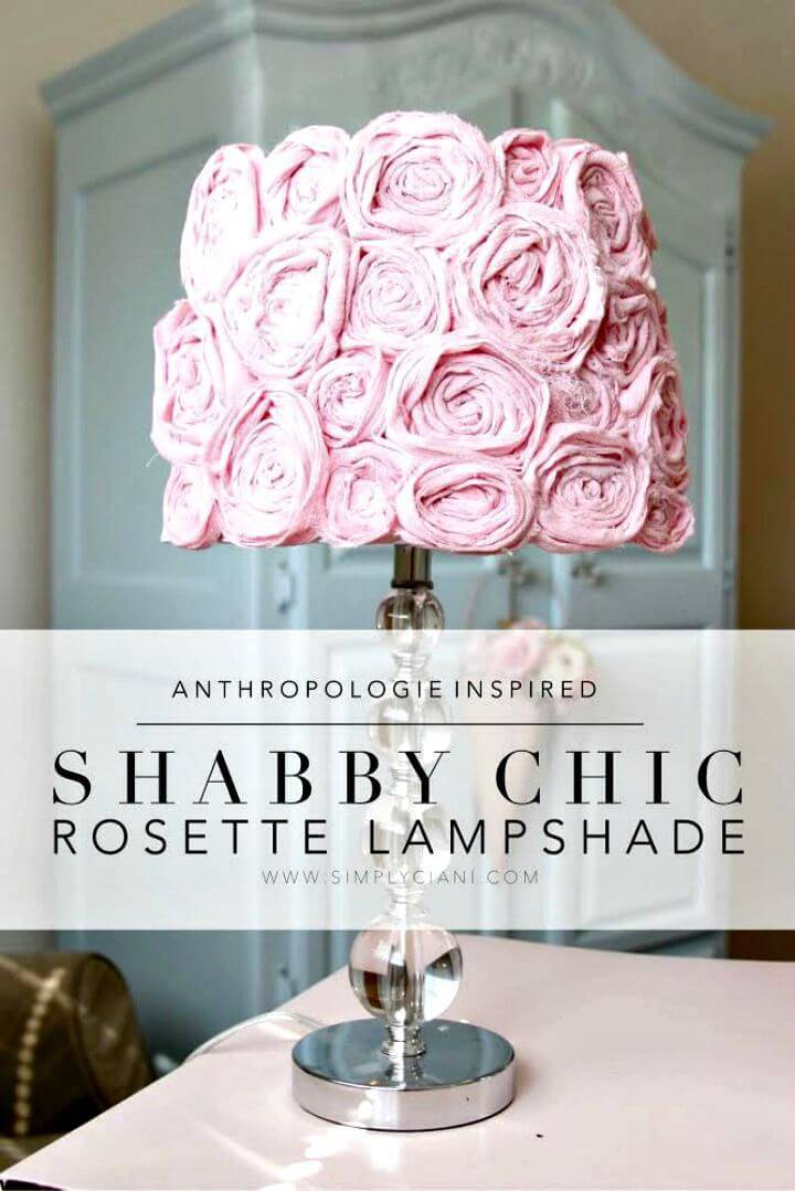 DIY Shabby Chic Lampshade - Home Decor Ideas & Projects