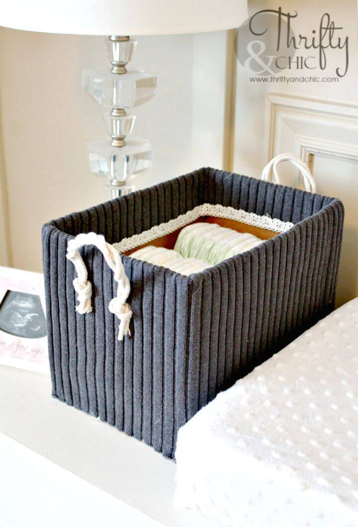 DIY Storage Boxes from Old Boxes and Sweaters