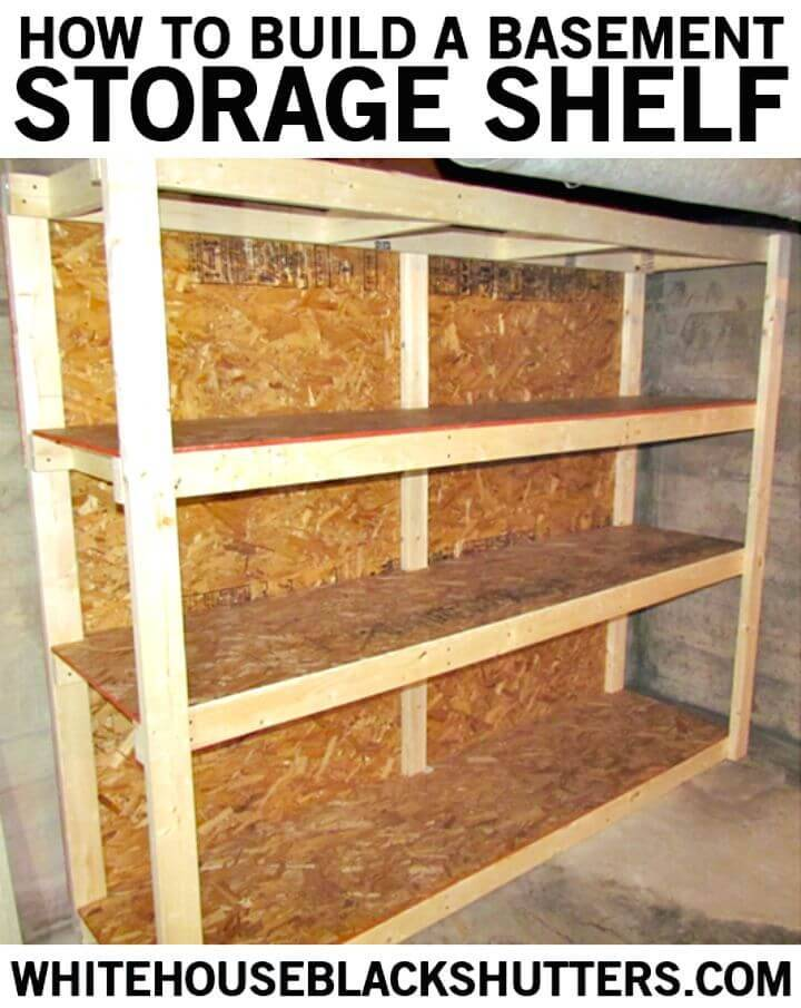 How to Build Basement Storage Shelf