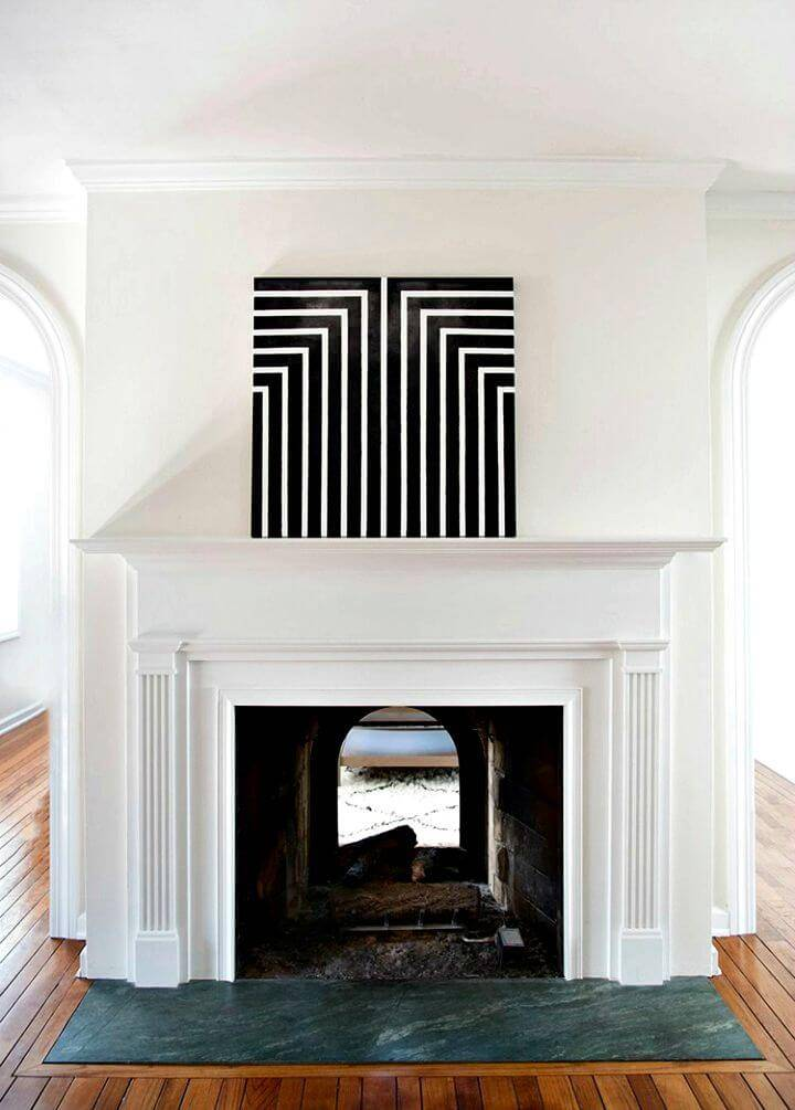 DIY Black and White Geometric Art