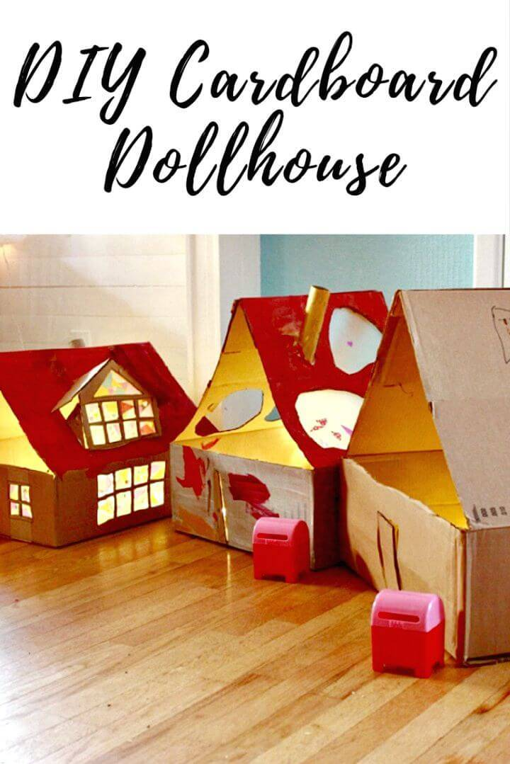 DIY Cardboard Dollhouse with Lights