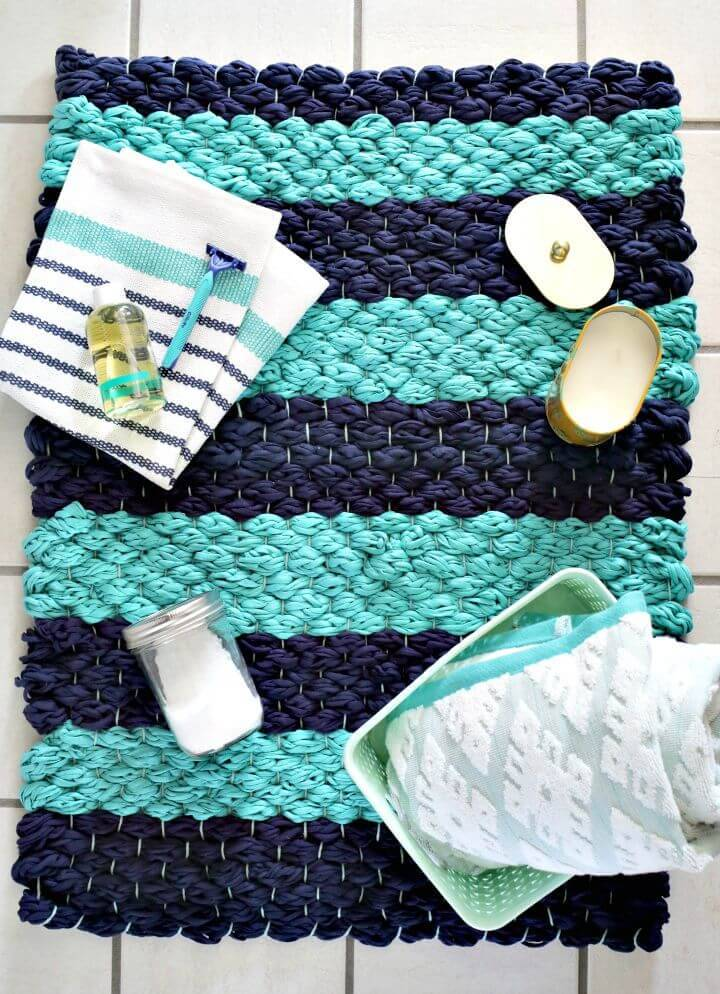 Free Woven Bath Mat Making Plan - DIY