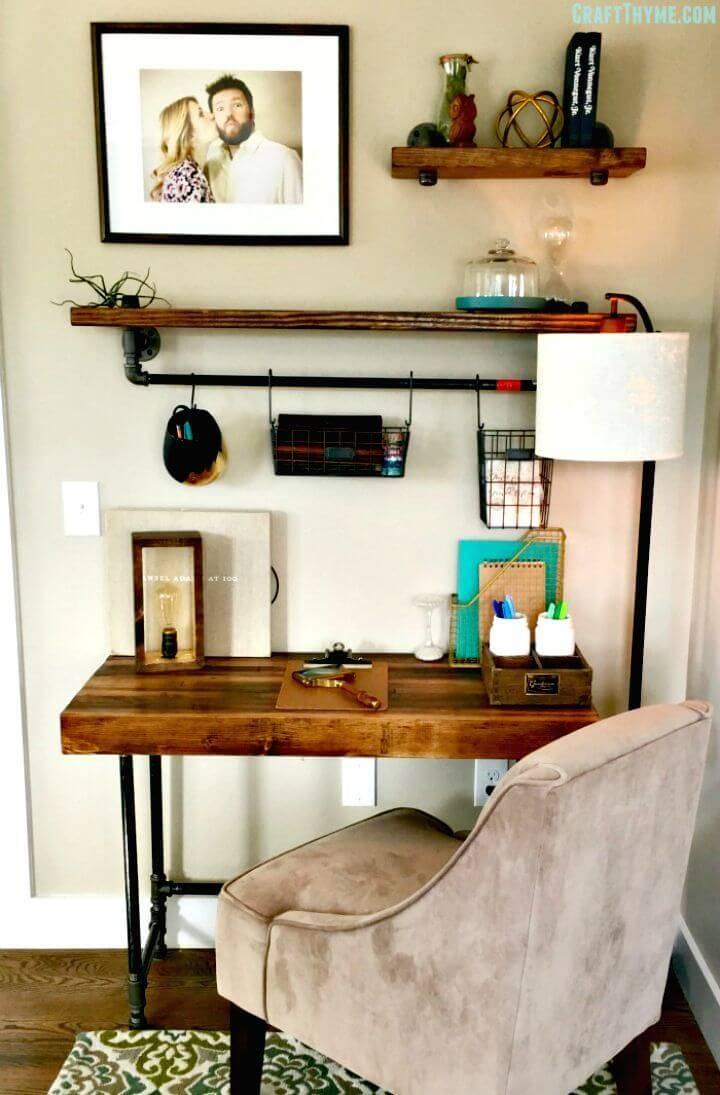 DIY Custom Industrial Wooden Desk