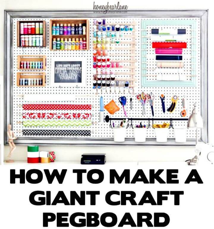 DIY Extra Large Pegboard for Craft Room Organization