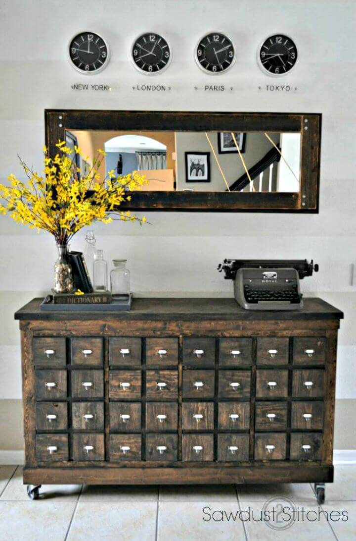 Turn Ikea Cubbies Into A Rustic Apothecary