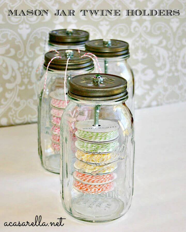 DIY Mason Jar Twine Holders