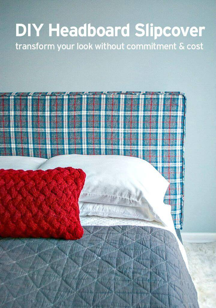 DIY No-sew Piping Headboard Slipcover Piping