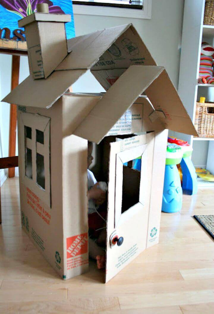 DIY Ollie's House Using Cardboard for Kids
