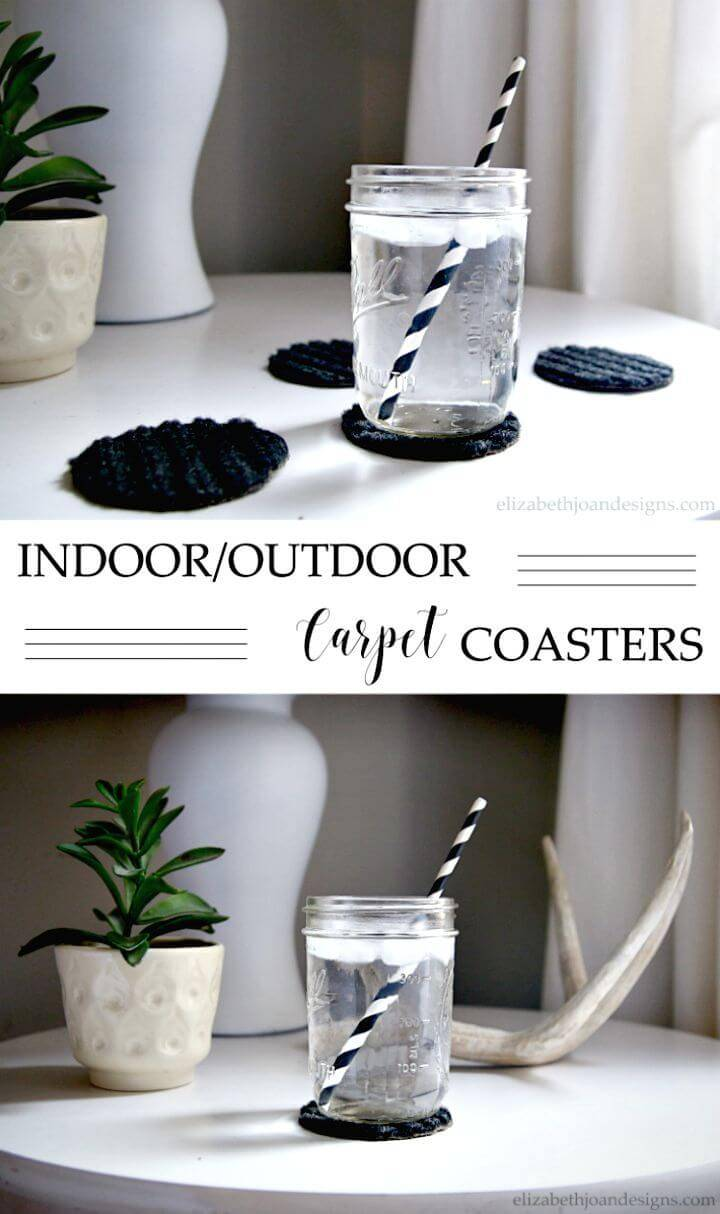 Easy DIY Outdoor Carpet Coasters