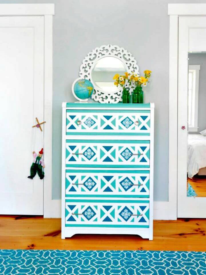 How to Paint A Geometric Design On A Dresser