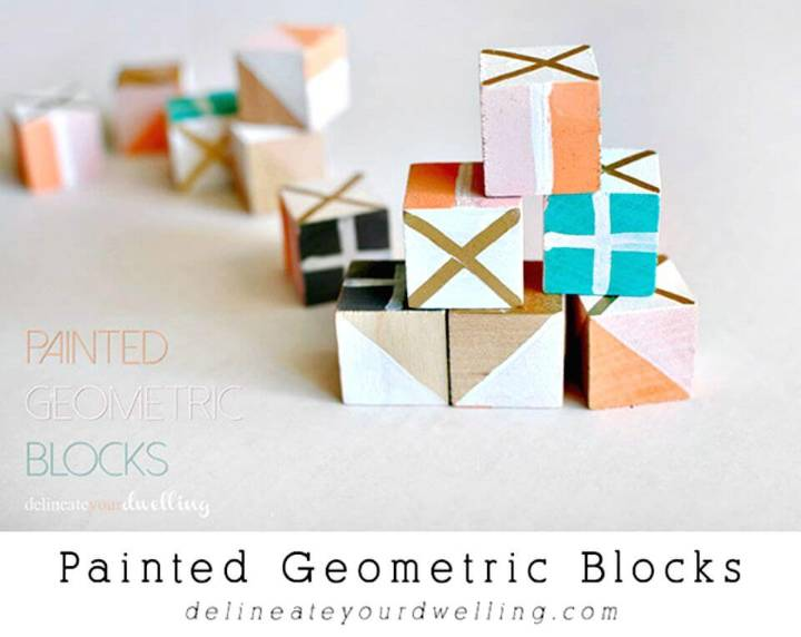 DIY Painted Geometric Blocks