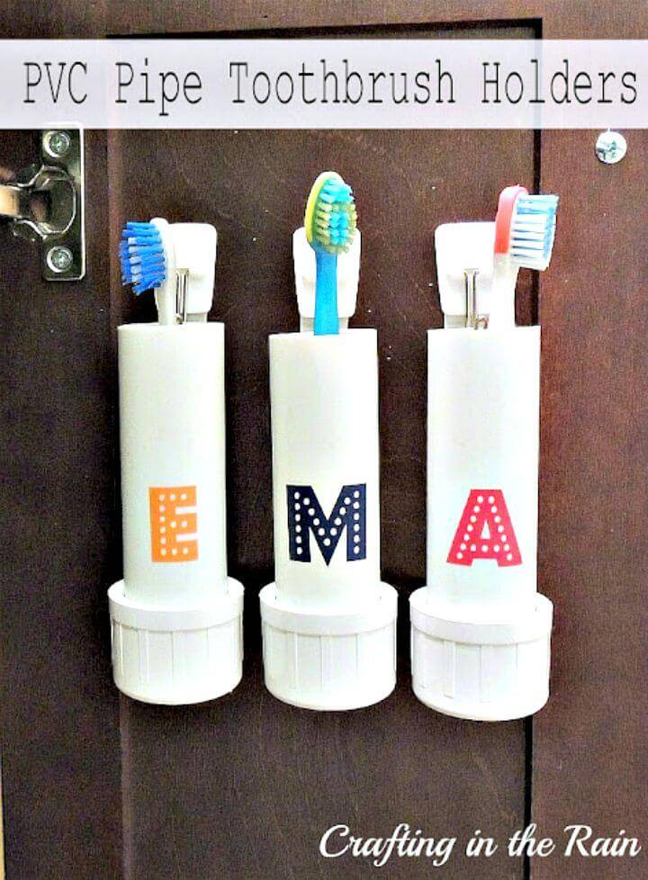 How to Make PVC Pipe Toothbrush Holders - DIY