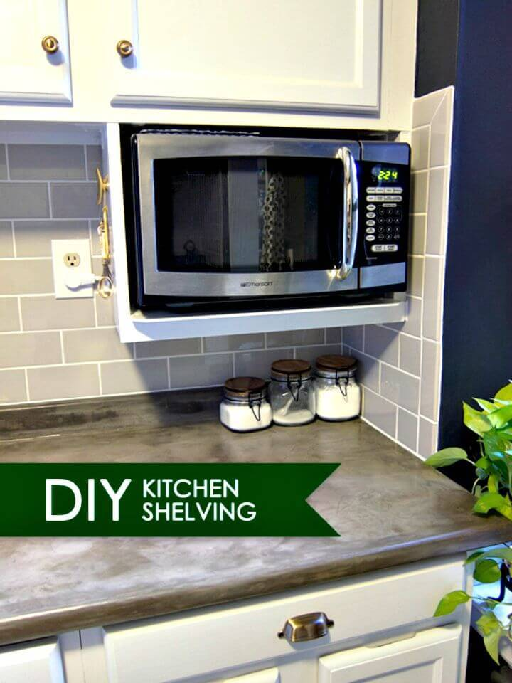DIY Shelf for Extra Storage Under Kitchen Cabinet